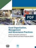 Good Organisation, Management & Governance Practices