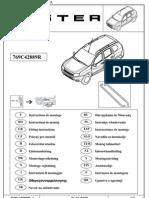 Инструкция по монтажуподножек на Renault Duster
