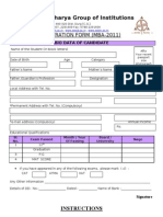 Mba 2011 Form