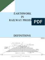 earth work in railway