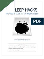 40 Sleep Hacks the Geeks Guide to Optimizing Sleep