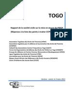 Rapport Final 2011 de la société civile sur les Droits de l'Homme au Togo