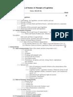 LLB 6.7 Interpretation of Statutes and Principle of Legisl