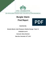 Burglar Alarm-Final Report[1]