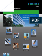 Hioki Field Measuring Instruments Catalog