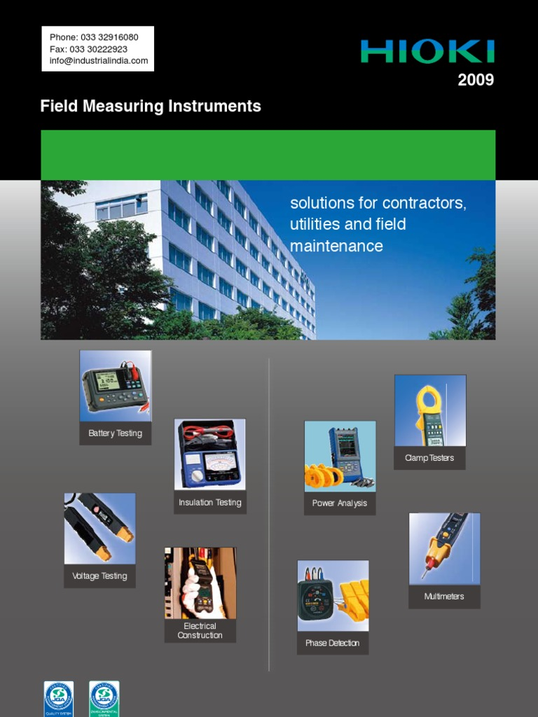 Hioki Field Measuring Instruments Catalog Alternating Current Clamp Meter Hitester 3280 20 Ac 1000a True Rms Physical Quantities