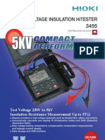 5kv Insulation Resistance Tester Hioki 3455