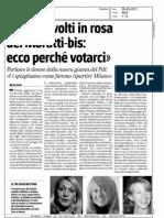 """""""Siamo i volti in rosa del Moratti-bis"""