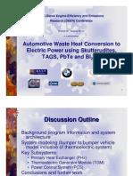 Automotive Waste Heat Conversion