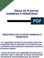 Planta Daninha - RESISTÊNCIA