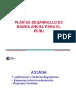 Plan de Desarrollo de Banda Ancha Para El Peru