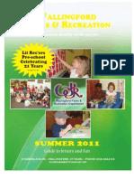 Wallingford Park & Recreation Summer 2011 Brochure