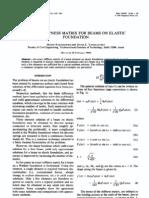 Ref Exact Stiffness Matrix for Beams on Elastic Foundation