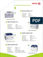 1 - 8 Pages XEROX Printers& A4MFP
