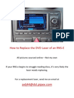 How to Replace the DVD Laser of an RNS-e