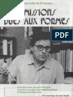 Jacques Ravatin - Les émissions dues aux formes 1978