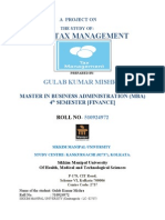 Indian Tax Managment