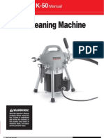 Ridgid K-50 Sectional Machine User's Manual