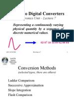 A-D Converters Electronics Lecture 7