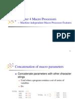 Machine Independent Features of Macro