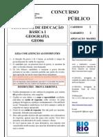 Modelo de Prova Geografia RIO de JANEIRO