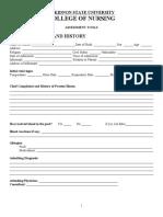 Assessment Form (BSU)