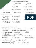 Lista de Exercicios de Limites - CAlculo 1