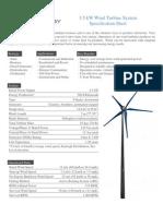 Raum 3 5kW Turbine Data Sheet-2010