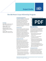Peace Corps Paid 3 Month IRD Fellow 3rd Year Workers