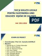Capitolul Educatie - Programul de Guvernare Locala PNL Iasi