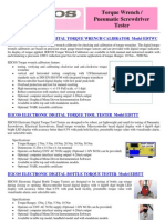IEICOS Torque Wrench Tester Catalog