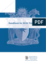 ED Handbook for RCOG Trainer