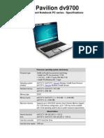 HP Pavillion dv9700