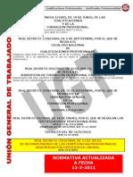 Legislación Cualificaciones Profesionales actualizado 12 3 2011