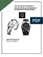 Winter Report on Titan Wrist Watches