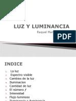 LUZ Y LUMINANCIA