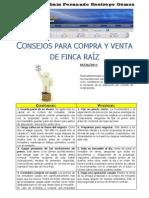 Consejos para Compra - Venta de Propiedad Raíz 2011