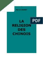 Marcel Granet La religion des Chinois, PUF 2ème édition, 1951, 1ère édition 1922