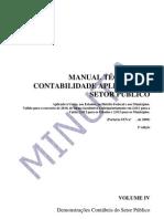 MANUAL TÉCNICO DE CONTABILIDADE APLICADA AO SETOR PÚBLICO