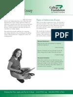 CFNC Admissions Essay