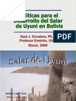 Litio en Bolivia Dr. Escalera