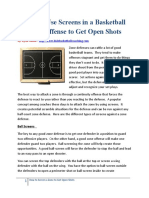 How to Use Screens in a Basketball Zone Offense to Get Open Shots