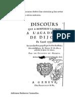 Análisis del discurso Sobre las ciencias y las artes  e influencia en otros autores.