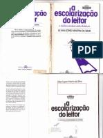 A escolarização do leitor - Lilian Lopes Martin da Silva