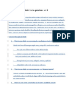 Business Analyst Interview Questions Set 1