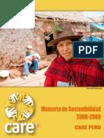 Memoria de Sostenibilidad 2008-2009 CARE Perú