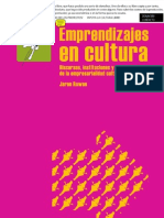 Emprendizajes en Cultura. Jaron Rowan