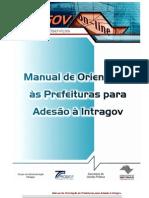 Manual de Orientação às Prefeituras sobre a adesão ao Projeto Intragov v2 (08.04