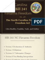 North Carolina Firearms Freedom Presentation Rough Draft