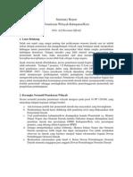 Summary Report on Pemekaran Wilayah Arif Roesman